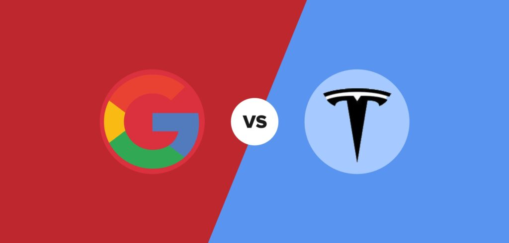 google vs tesla